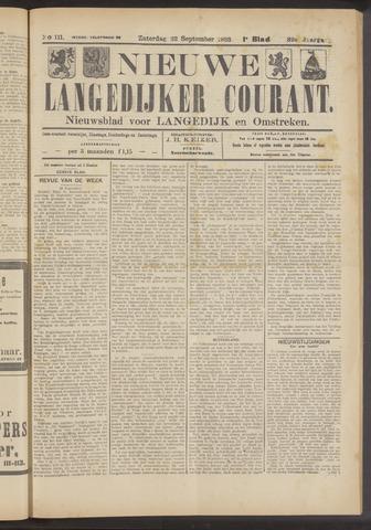 Nieuwe Langedijker Courant 1923-09-22