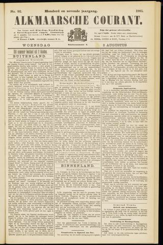 Alkmaarsche Courant 1905-08-02