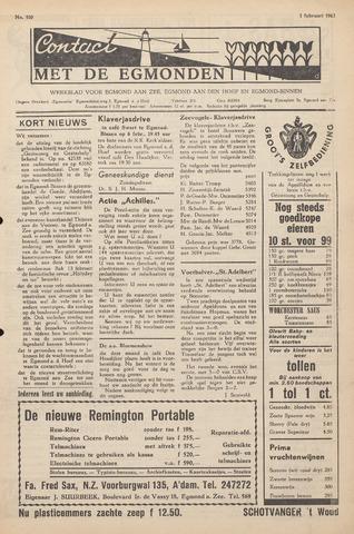 Contact met de Egmonden 1962-02-01