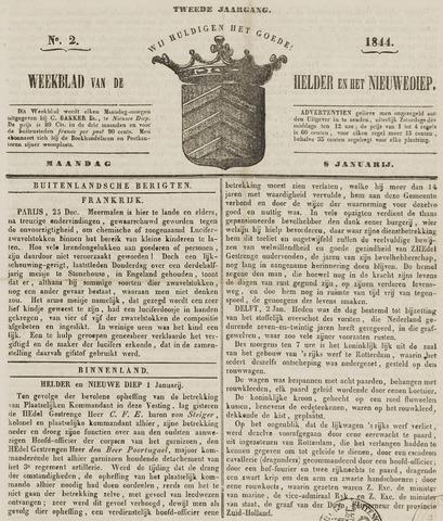 Weekblad van Den Helder en het Nieuwediep 1844-01-08