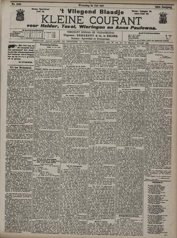 Vliegend blaadje : nieuws- en advertentiebode voor Den Helder 1907-07-24