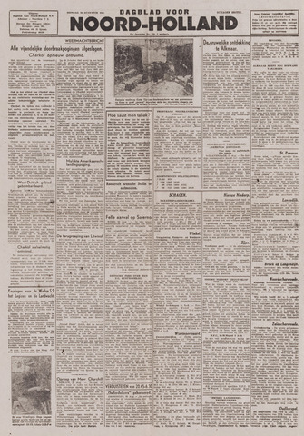 Dagblad Noord-Holland, Schager editie 1943-08-24