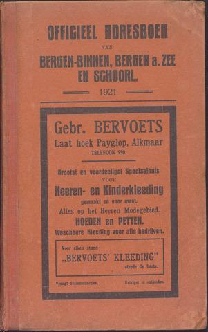 Adresboek van Bergen 1921-01-01