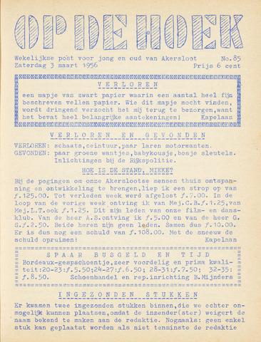 Op De Hoek, weekblad voor Akersloot 1956-03-03
