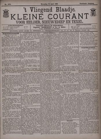 Vliegend blaadje : nieuws- en advertentiebode voor Den Helder 1886-04-21