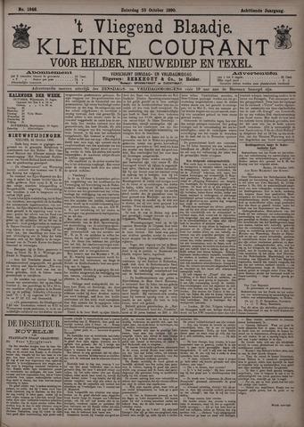 Vliegend blaadje : nieuws- en advertentiebode voor Den Helder 1890-10-25