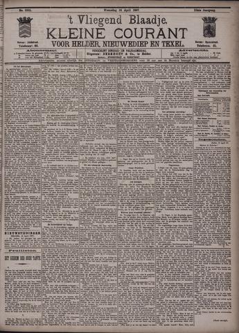 Vliegend blaadje : nieuws- en advertentiebode voor Den Helder 1897-04-14