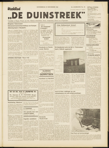 De Duinstreek 1966-12-29