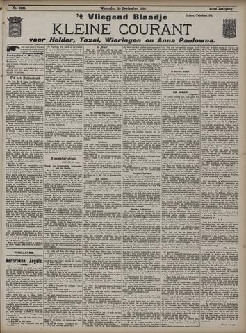 Vliegend blaadje : nieuws- en advertentiebode voor Den Helder 1909-09-29