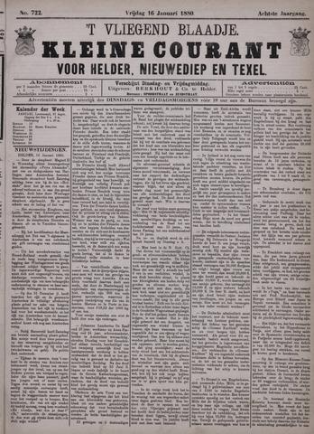 Vliegend blaadje : nieuws- en advertentiebode voor Den Helder 1880-01-16