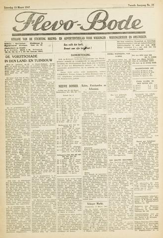 Flevo-bode: nieuwsblad voor Wieringen-Wieringermeer 1947-03-15