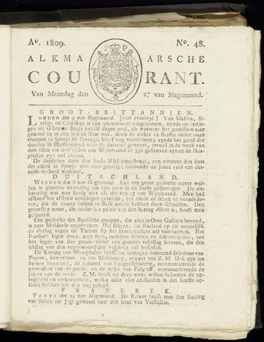 Alkmaarsche Courant 1809-11-27