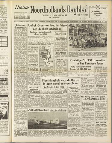 Nieuw Noordhollandsch Dagblad : voor Alkmaar en omgeving 1951-09-06