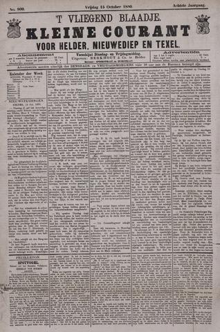 Vliegend blaadje : nieuws- en advertentiebode voor Den Helder 1880-10-15