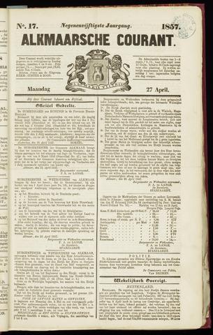 Alkmaarsche Courant 1857-04-27