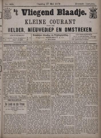Vliegend blaadje : nieuws- en advertentiebode voor Den Helder 1879-05-27