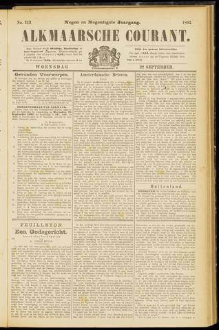 Alkmaarsche Courant 1897-09-22
