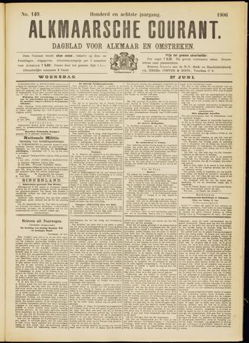 Alkmaarsche Courant 1906-06-27