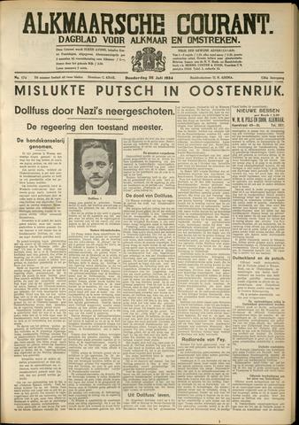 Alkmaarsche Courant 1934-07-26