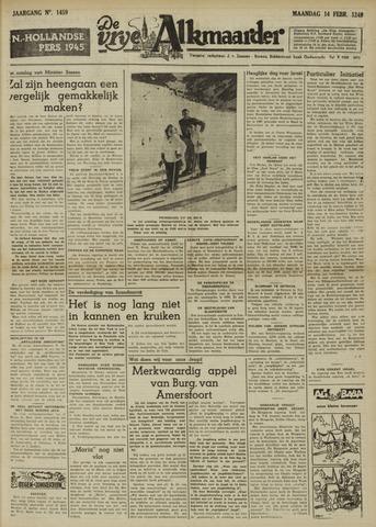 De Vrije Alkmaarder 1949-02-14