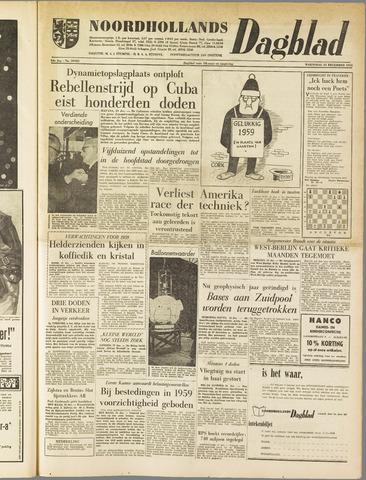 Noordhollands Dagblad : dagblad voor Alkmaar en omgeving 1958-12-31