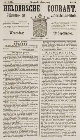 Heldersche Courant 1869-09-22