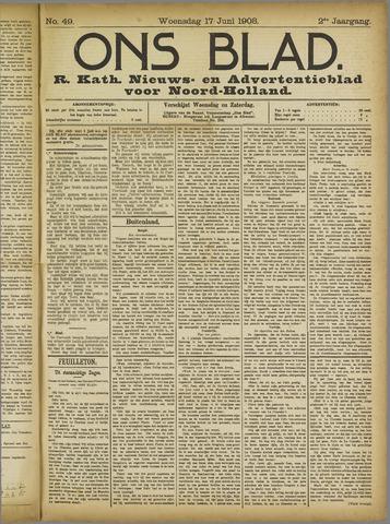 Ons Blad : katholiek nieuwsblad voor N-H 1908-06-17