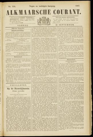 Alkmaarsche Courant 1887-09-23