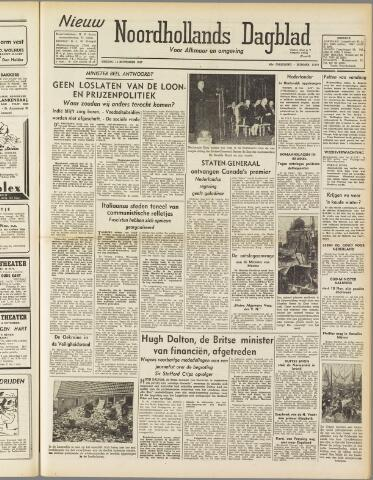 Nieuw Noordhollandsch Dagblad : voor Alkmaar en omgeving 1947-11-14