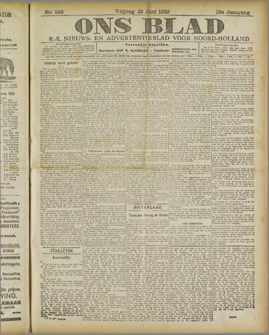 Ons Blad : katholiek nieuwsblad voor N-H 1919-06-13