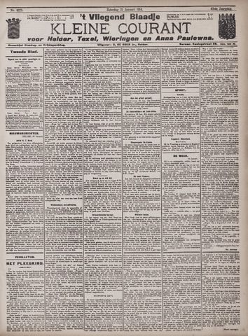 Vliegend blaadje : nieuws- en advertentiebode voor Den Helder 1914-01-31