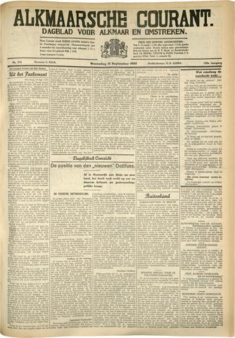 Alkmaarsche Courant 1933-09-13