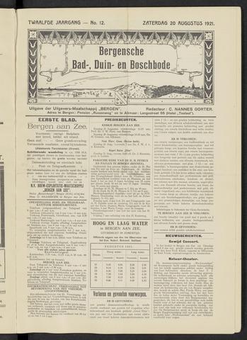 Bergensche bad-, duin- en boschbode 1921-08-20