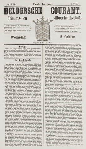 Heldersche Courant 1870-10-05