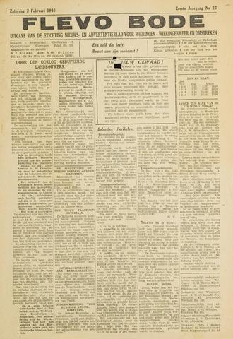 Flevo-bode: nieuwsblad voor Wieringen-Wieringermeer 1946-02-02