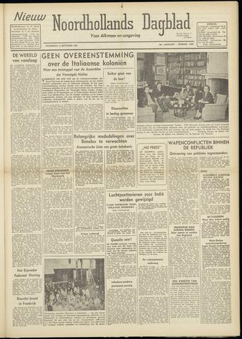 Nieuw Noordhollandsch Dagblad : voor Alkmaar en omgeving 1948-09-15