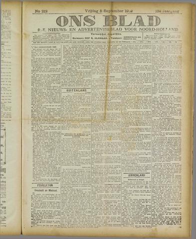 Ons Blad : katholiek nieuwsblad voor N-H 1919-09-05