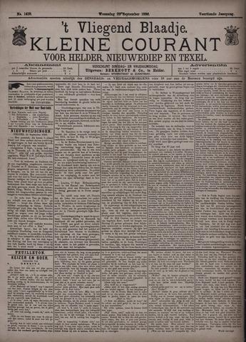 Vliegend blaadje : nieuws- en advertentiebode voor Den Helder 1886-09-22