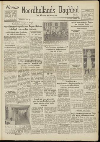 Nieuw Noordhollandsch Dagblad : voor Alkmaar en omgeving 1948-04-14