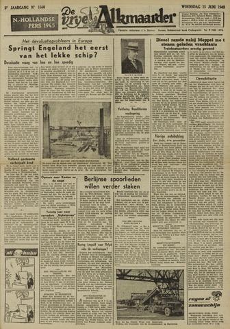 De Vrije Alkmaarder 1949-06-15