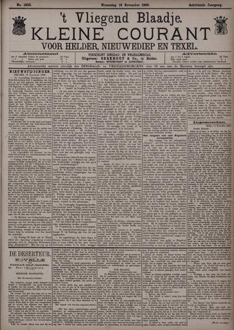 Vliegend blaadje : nieuws- en advertentiebode voor Den Helder 1890-11-19