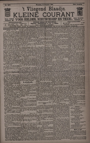Vliegend blaadje : nieuws- en advertentiebode voor Den Helder 1894-12-12