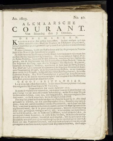 Alkmaarsche Courant 1805-10-07