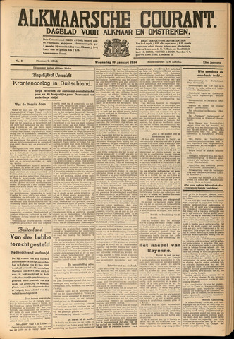 Alkmaarsche Courant 1934-01-10