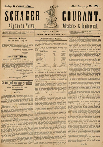 Schager Courant 1889-01-13