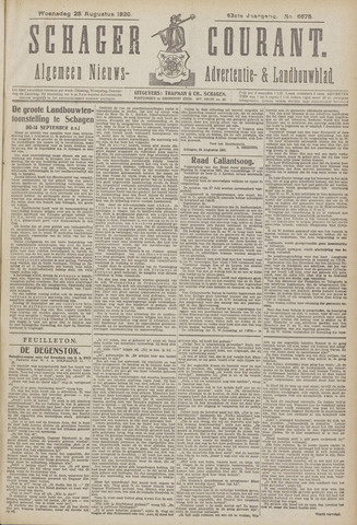 Schager Courant 1920-08-25