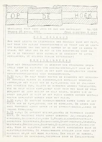 Op De Hoek, weekblad voor Akersloot 1961-04-28
