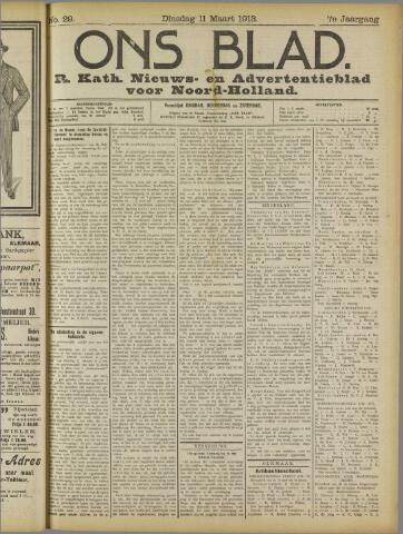 Ons Blad : katholiek nieuwsblad voor N-H 1913-03-11