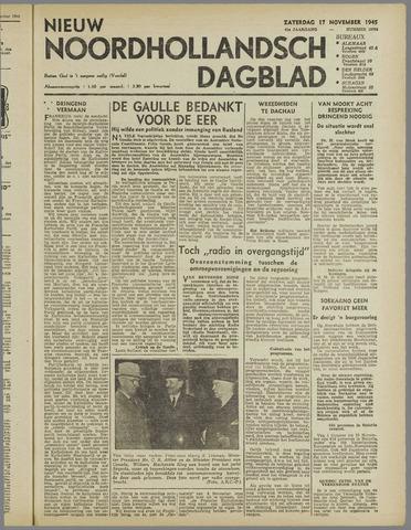 Nieuw Noordhollandsch Dagblad : voor Alkmaar en omgeving 1945-11-17