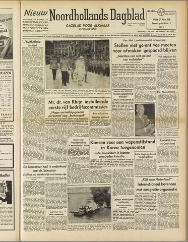 Nieuw Noordhollandsch Dagblad : voor Alkmaar en omgeving 1952-07-17